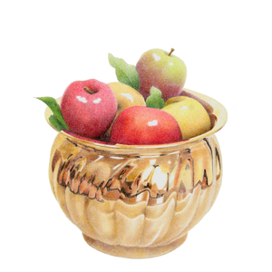 267 APPLES IN BRASS BOWL